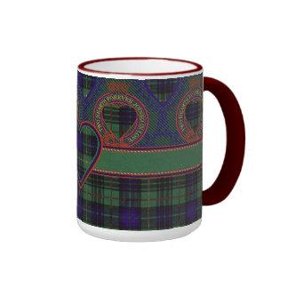Lennox clan Plaid Scottish tartan Ringer Mug