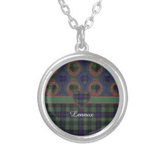 Lennox clan Plaid Scottish tartan Silver Plated Necklace