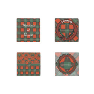 Lennox clan Plaid Scottish tartan Stone Magnet
