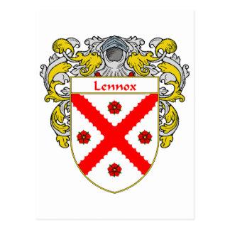 Lennox Coat of Arms (Mantled) Postcard