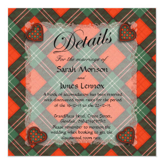 Lennox Scottish clan tartan - Plaid Card