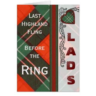 Lennox Scottish Tartan Card