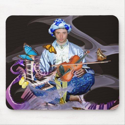 Lenny Fine Surrealist artist photo self portrait Mouse Pad