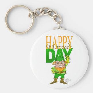 Lenny the Leprechaun illustration, on a key ring. Keychain