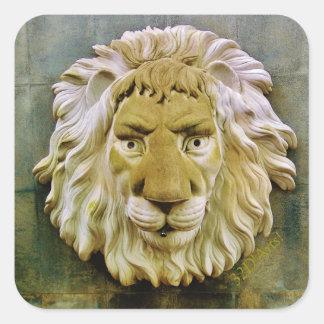 'Lenny the Lion' of Massa, Square Stickers, Glossy Square Sticker