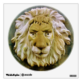 """""""Lenny the Lion"""" Round Wall Decal"""