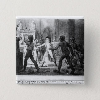 Lenoir opposing the destruction of royal tombs pinback button