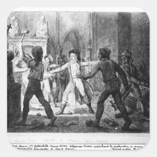 Lenoir opposing the destruction of royal tombs square sticker
