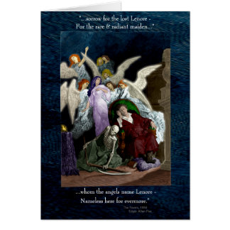 Lenore among the Angels. Card