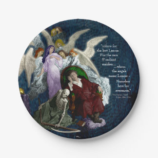 Lenore among the Angels. Paper Plate