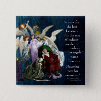 Lenore among the Angels. Pinback Button