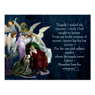 Lenore among the Angels. Postcard