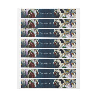 Lenore among the Angels. Wraparound Address Label