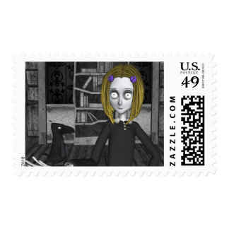 Lenore And The Raven Nevermore Postage