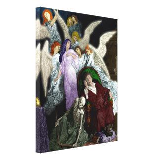 Lenore entre los ángeles lienzo envuelto para galerías
