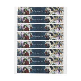 Lenore entre los ángeles etiquetas postales