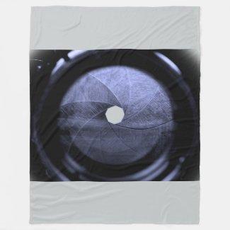 lens aperture blades fleece blanket