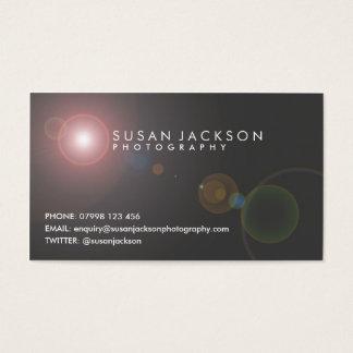 Lens Flare Photographers Business Card