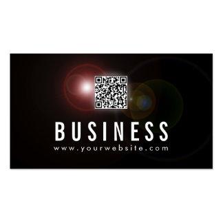 Lens Flare QR Code Announcer Business Card