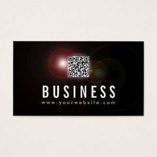 Lens Flare QR Code Life Coach Business Card