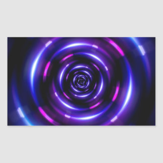 lens flare ring pattern rectangular sticker