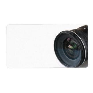 Lense de la foto etiquetas de envío