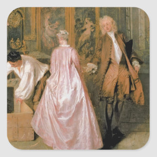 L'Enseigne de Gersaint, 1720 Pegatina Cuadrada