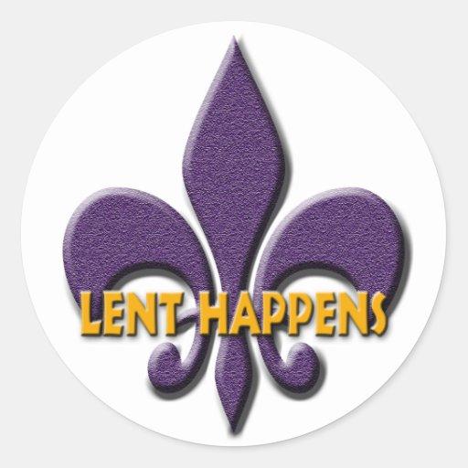Lent Happens Classic Round Sticker