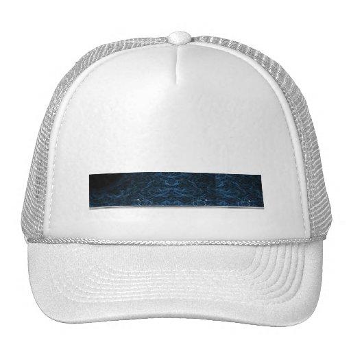 Lente azul abstracta moderna gorras
