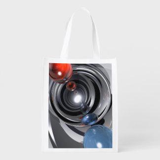 Lente de cámara abstracta bolsa de la compra