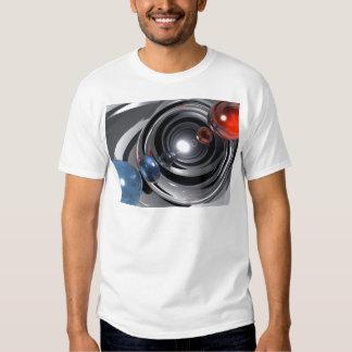 Lente de cámara abstracta playeras