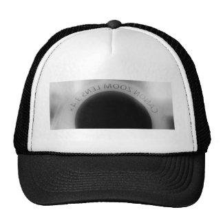 Lente de cámara blanco y negro gorras de camionero