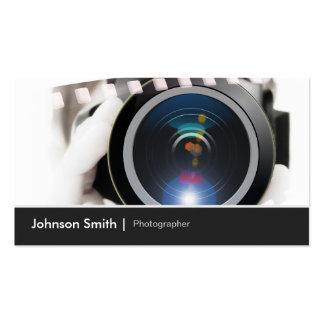 Lente de cámara del cinematógrafo del fotógrafo de plantillas de tarjetas de visita