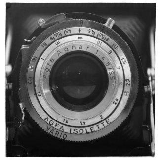 Lente de cámara del vintage servilleta de papel