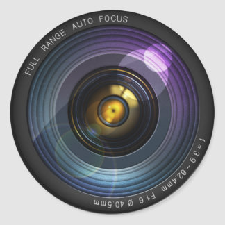 Lente de cámara pegatina redonda