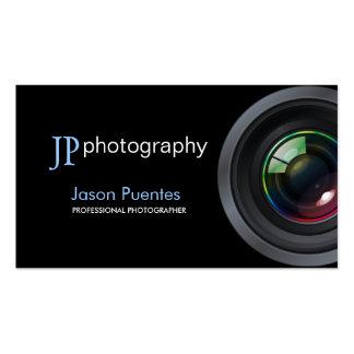 Lente de cámara profesional del fotógrafo plantilla de tarjeta personal