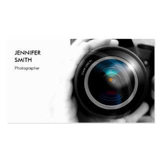 Lente de cámara simplemente blanco y negro del tarjetas personales