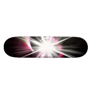 Lente del fractal que brilla intensamente estallad tabla de patinar