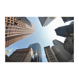 lente del Pescado-ojo del edificio, Boston, los E. Impresion En Lona