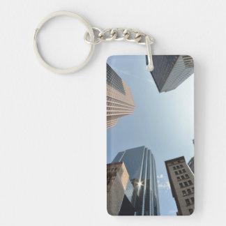 lente del Pescado-ojo del edificio, Boston, los E. Llavero Rectangular Acrílico A Doble Cara