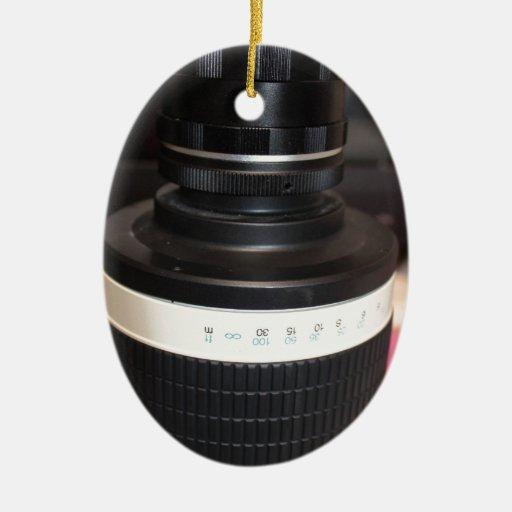 Lente del telescopio de la cámara adorno ovalado de cerámica