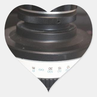 Lente del telescopio de la cámara calcomania corazon