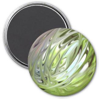 Lente verde en el vitral iman de frigorífico