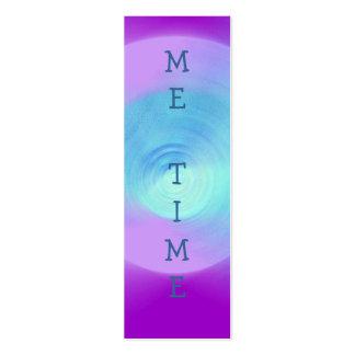 Lente violeta abstracta, YO marca de libro del TIE Plantillas De Tarjetas Personales