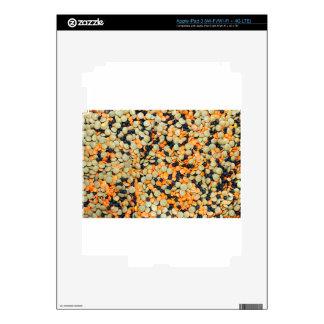 Lentejas del verde, anaranjadas y negras pegatina skin para iPad 3