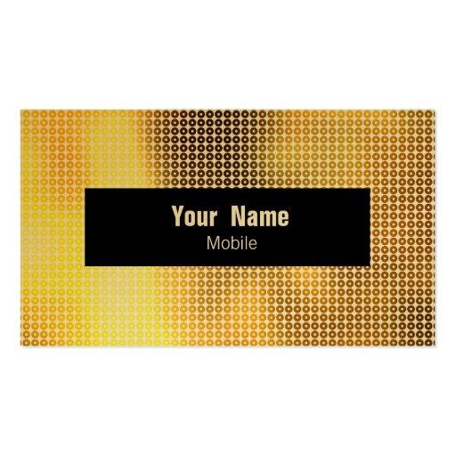 Lentejuela de oro tarjeta personal