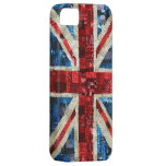 Lentejuela de Union Jack bling el iPhone inglés BR iPhone 5 Case-Mate Cárcasa