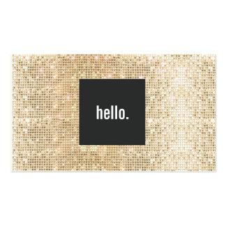 Lentejuela del oro hola que saluda establecimiento tarjetas de visita