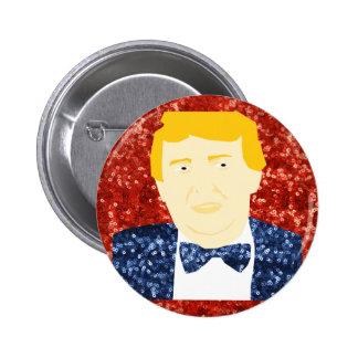 lentejuela Donald Trump Pin Redondo De 2 Pulgadas