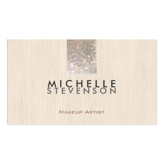 Lentejuela elegante moderna simple del artista de  tarjetas de visita